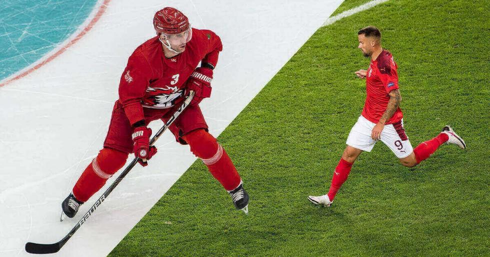 Pubblicità Calcio e Hockey su ghiaccio
