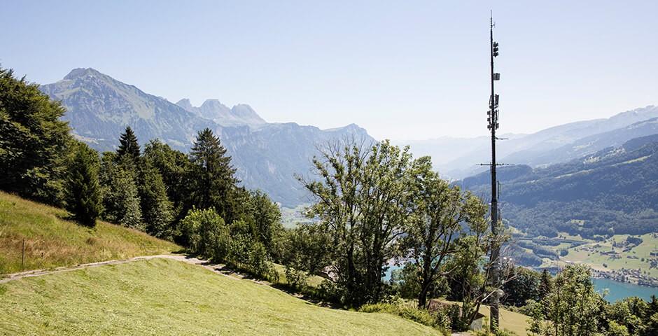 Mobilfunk-Antenne in Bergregion