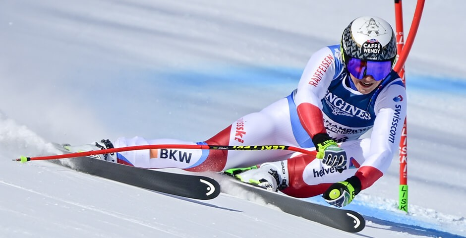 Wendy Holdener in full flow at the World Championships in Cortina