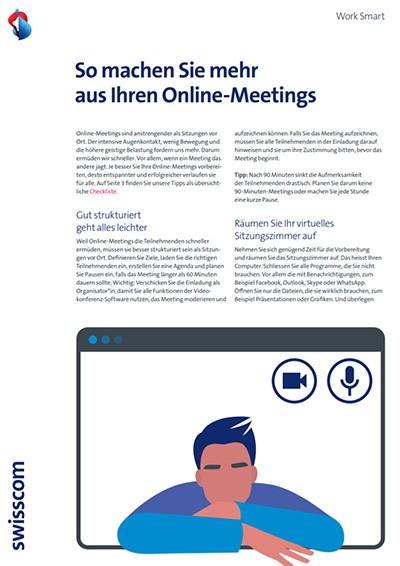Checkliste für Online-Meetings: Vorschaubild