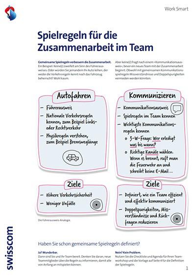 Spielregeln für Team-Kommunikation: Vorschaubild