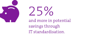 Cost savings thanks to IT standardisation