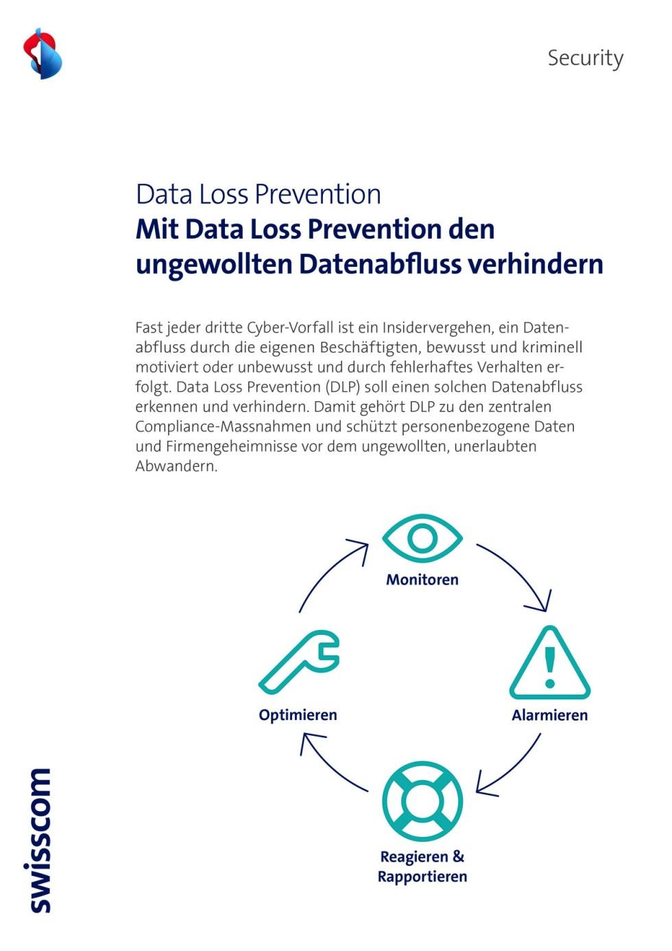 Titelbild des Infopaketes: Data Loss Prevention
