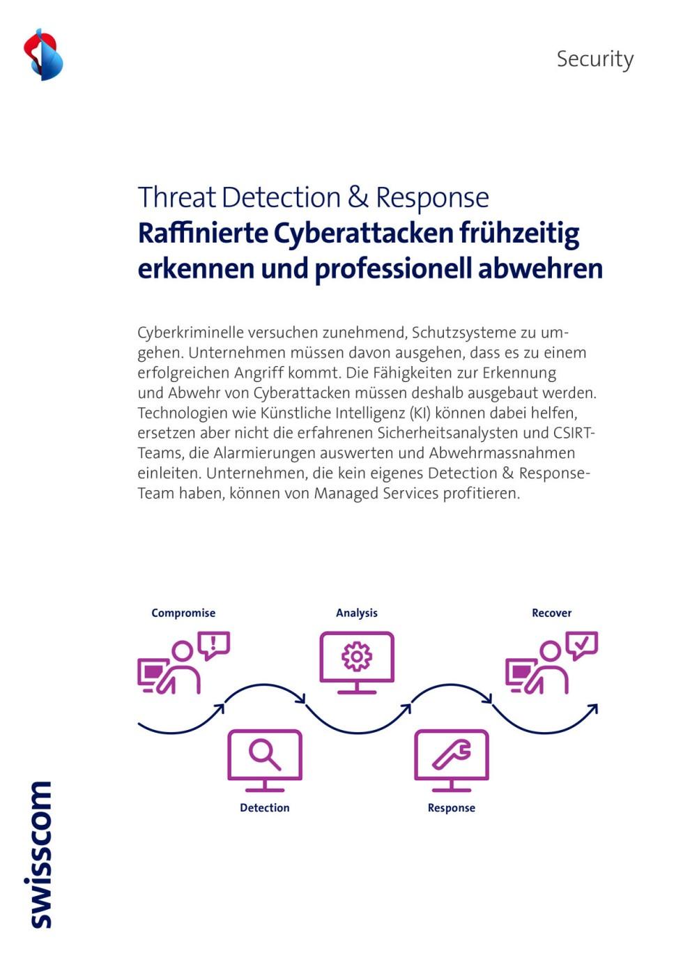 Titelbild des Infopaketes: Threat Detection and Response