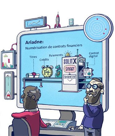 Das Grundkonzept von Ariadne basiert auf der Digitalisierung von finanziellen Kontrakten.