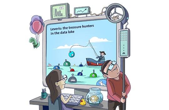 Leveris verwertet interne und externe Daten aus ihrem Data Lake.