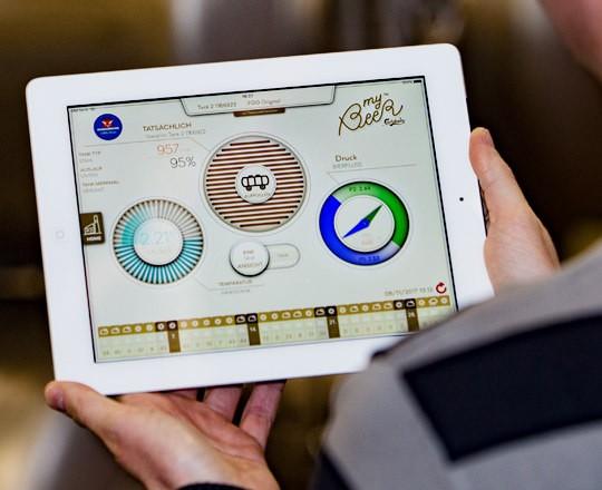 Die App myBeer informiert Gastwirte u. a. über den aktuellen Bier-Pegelstand.