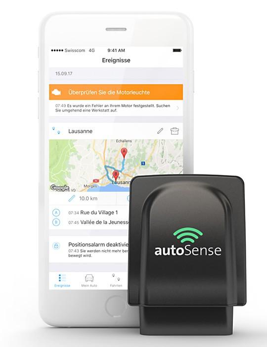Via einen Hardwareschlüssel werden die Fahrzeugdaten ausgelesen und in einer App bereitgestellt.