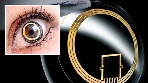 Kontaktlinse mit Drucksensoren