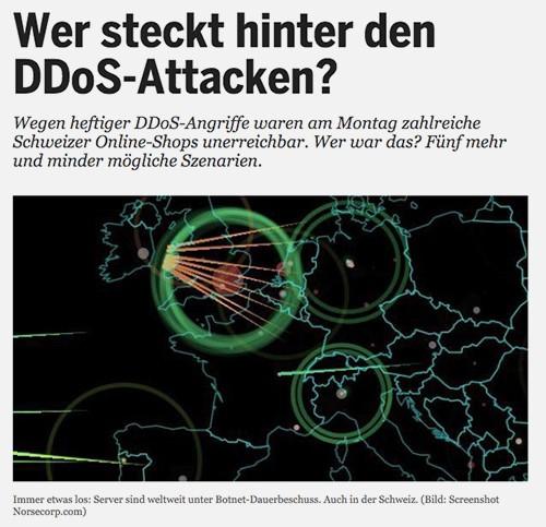 Angriffe, wie sie diesen Frühling prominent in der Schweiz ausgeführt wurden, wehren die IT-Security-Mitarbeiter von Swisscom mit ihren Anti-DDoS-Diensten auch für Kunden ab. (Bild: Screenshot 20minuten.ch)