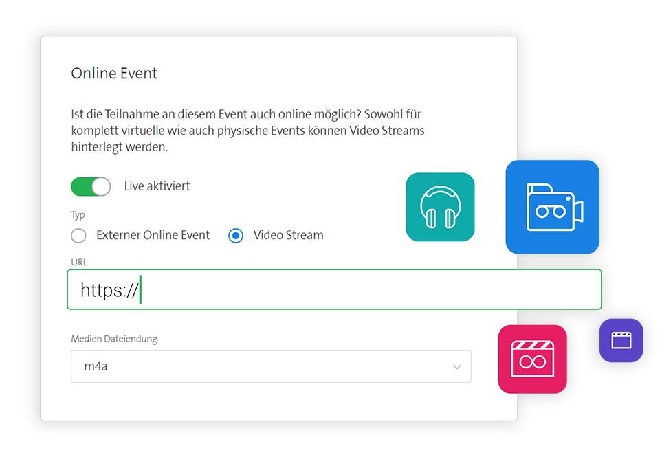 Integrierte Streaming-Links hinterlegen