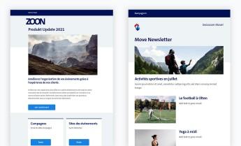 Empfänger importieren, Screenshot von Zoon
