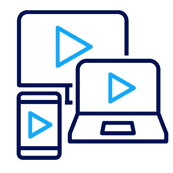 Icône Un seul lecteur vidéo pour toutes les applications