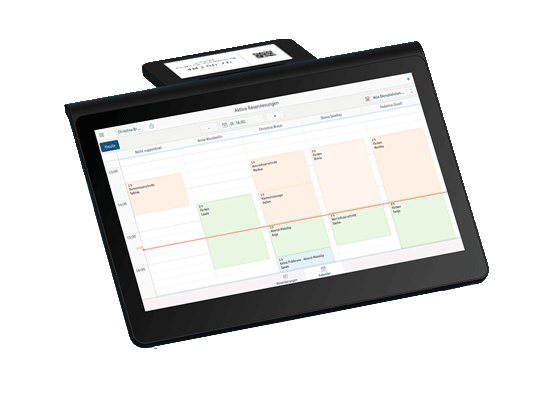 Screen shows shift plans in the electronic POS system