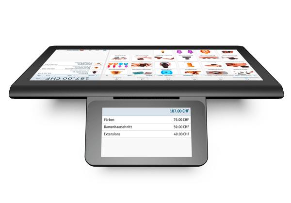 Registratore di cassa elettronico enforeDasher con schermo per la clientela