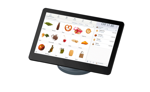 Registratore di cassa elettronico enforeComet con touchscreen sul bancone