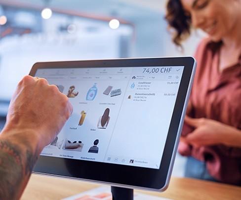 Sistema di cassa per POS di Swisscom su tablet