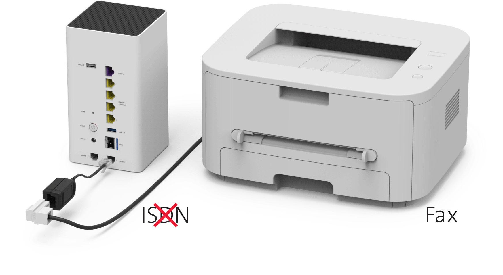 Fax con telefonia fissa (IP) - No ISDN