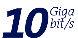 Icon: 10Gbit/s Glasfaser