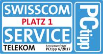 Siegel: Serviceumfrage PCtipp - Swisscom Platz 1