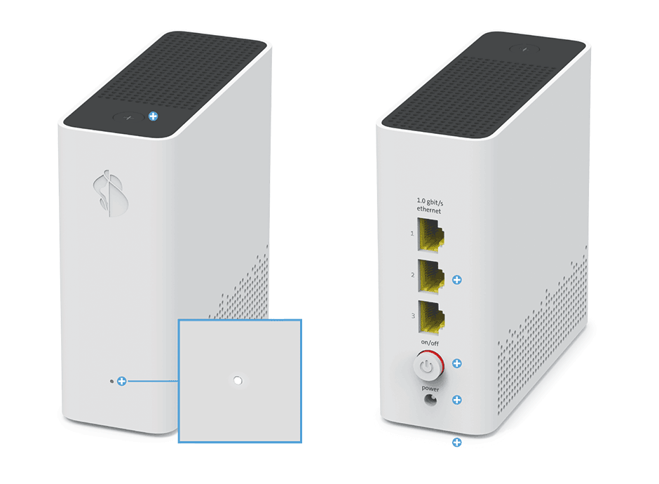 Swisscom WLAN-Box 2 - Status LED
