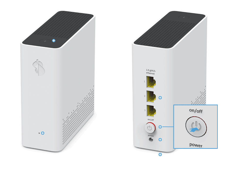 Swisscom WLAN-Box 2 - On/off Knopf
