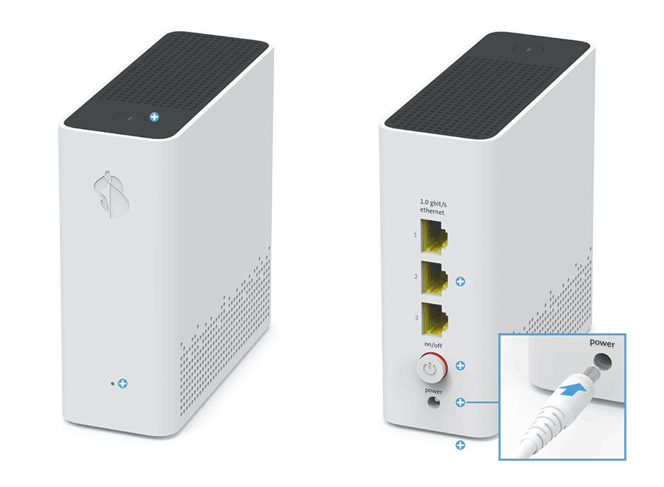 Swisscom WLAN-Box 2 - Stromanschluss