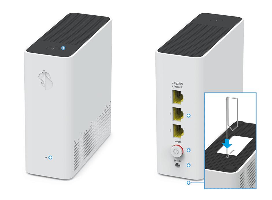 Swisscom WLAN-Box 2 - Reset-Taste