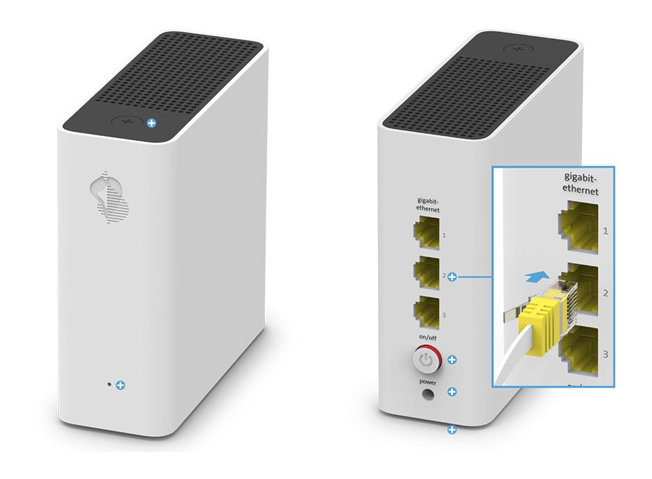 Swisscom WLAN-Box - Gigabit-Ethernet-Anschlüsse