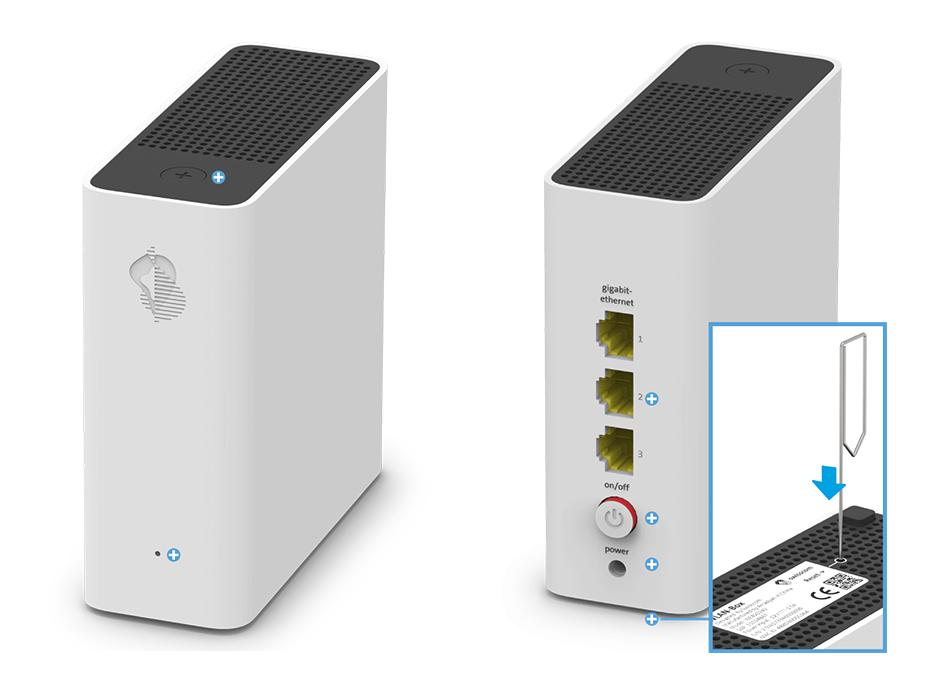 Swisscom WLAN-Box - Reset-Taste