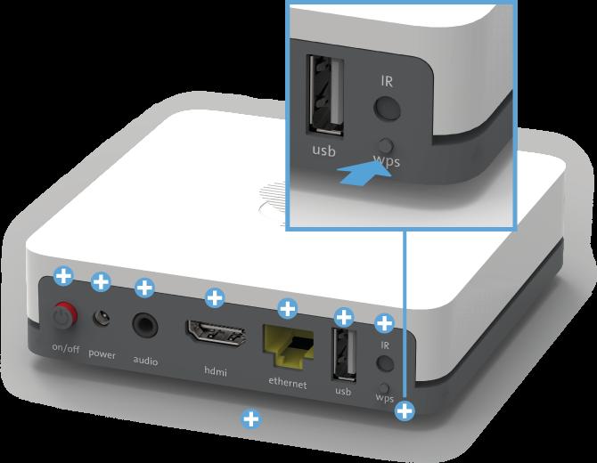 Swisscom TV Box (UHD) - Rückseite WPS-Button