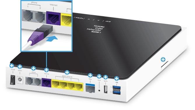 Swisscom Internet-Box plus - Rückseite DSL Internet Buchse