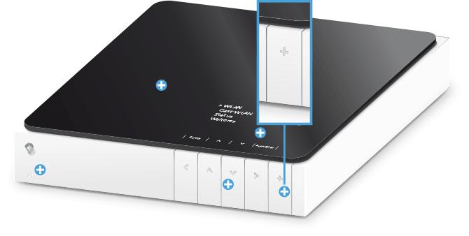 Swisscom Internet-Box plus - Vorderseite Pairing / Verbindungstaste