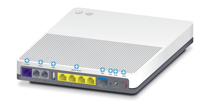 Swisscom Internet-Box standard - Rückseite