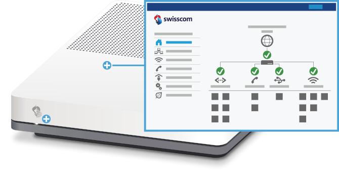 Swisscom Internet-Box standard - Vorderseite Web Portal