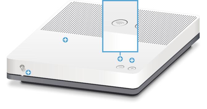 Swisscom Internet-Box standard - Vorderseite WLAN Taste