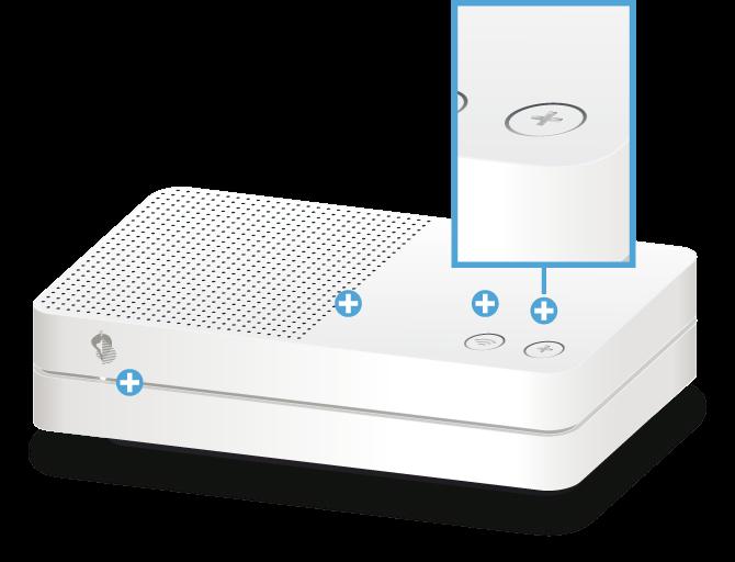 Swisscom Internet-Box light - Vorderseite Pairing / Verbindungstaste