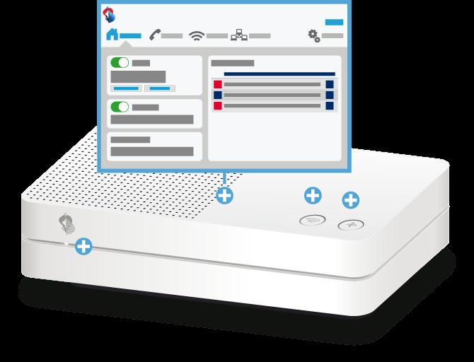 Swisscom Internet-Box light - Vorderseite Web-Portal