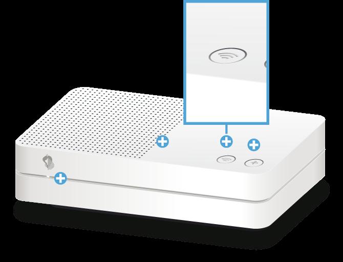 Swisscom Internet-Box light - Vorderseite WLAN Taste