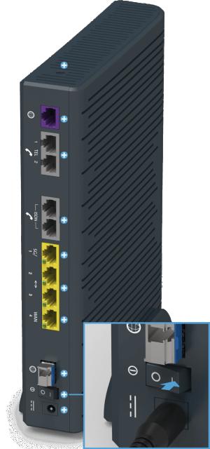 Swisscom Centro Business 2.0 - Rückseite Stromanschluss