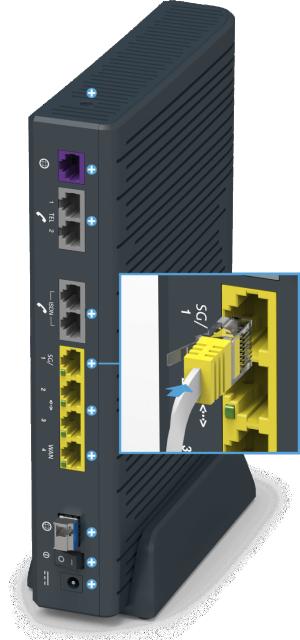 Swisscom Centro Business 2.0 - Rückseite LAN Port 1