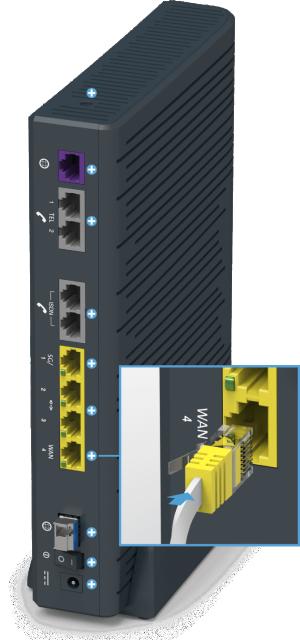 Swisscom Centro Business 2.0 - Rückseite WAN Failover Port 4