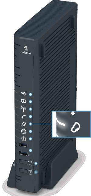 Swisscom Centro Business 2.0 - Vorderseite Internet-Backup LED