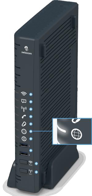 Swisscom Centro Business 2.0 - Vorderseite Internet LED