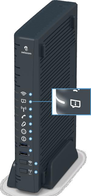 Swisscom Centro Business 2.0 - Vorderseite Service LED