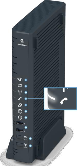 Swisscom Centro Business 2.0 - Vorderseite Telefonie LED
