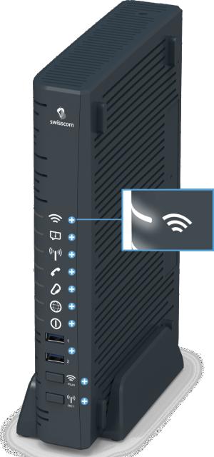 Swisscom Centro Business 2.0 - Vorderseite WLAN LED