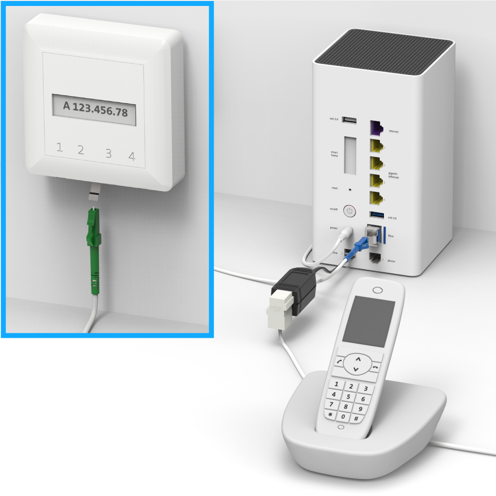 how to connect fax to nbn box