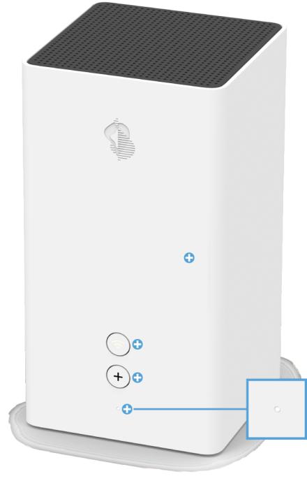Swisscom Internet Box 2 - Vorderseite Status LED