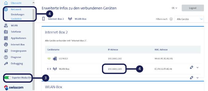 Firmware Aktualisierung - WLAN-Box 2